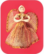 Angel 15 cm, Natural Abaca, Gold Lining