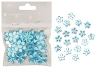 Flower with Double-sided Tape 2 cm, 20 pcs, Blue