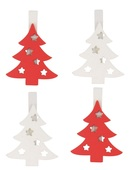 Wooden Tree 4,5 cm, on Peg, 4 pcs
