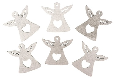 Wooden Angel 4,5 cm, 6 pcs w/Tape