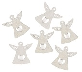 Wooden Angel 3 cm, on Peg, 6 pcs