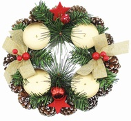 Advent Wreath with Cones 22 cm