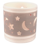 Ceramic Candle Holder Star Sky,Grey and White 7,9 cm