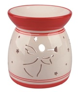 Ceramic Aroma Lamp with Angel White and Red 11,4 cm