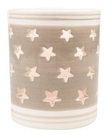 Ceramic Candle Holder Stars,Grey and White 9 cm