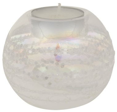 Glass Candle Holder dia 8 cm