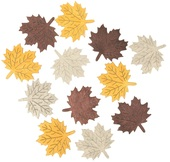 Wooden Maple Leaves 4 cm, 12 pcs