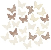 Wooden Butterfly 2 cm, 24 pcs