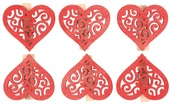 Wooden Heart with Peg 4 cm, 6 ks