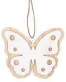 Hanging Wooden Butterfly 10 cm