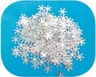 1,5 cm Snowflakes, Laser, Holographic, 15g