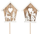 Wooden House 8 cm + Stick