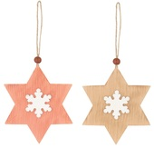 Hanging Wooden Star 7 cm