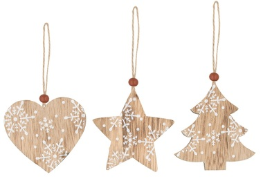 Hanging Wooden Decoration 7 cm