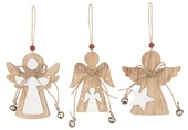 Hanging  Wooden Angel 8 cm