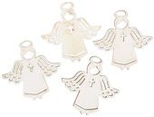 Wooden Angel 3,5 cm 12 pcs, White