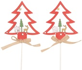 Wooden Tree 8 cm + Stick, 2 pcs
