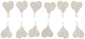 Heart w/Sequins on Peg 2 cm, 12 pcs