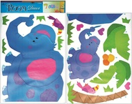Wall Sticker 2 Sheets 79x49 cm Elephant