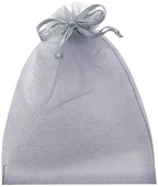 Grey Organza Bag 7x9 cm