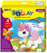 I-Clay Modelling Clay 4 cups+accessories UNICORN