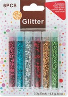 Dry Glitter Circles 6 colours per 3,3 g