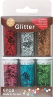 Dry Glitter Stripes 6 colours per 6 g