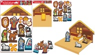 Folding Paper DIY Nativity Scene 30 x 20,5 cm