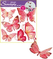 Wall Sticker 30,5x30,5 cm, Pink Butterflies w/moving wings