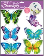 Wall Sticker 3,50x30,5 cm, Butterflies w/moving wings