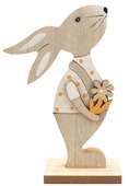 Standing Wooden Rabbit 16 cm