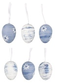 Hanging Plastic Eggs 6 cm, 6 pcs in polybag