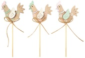 Wooden Hen on Stick 6,5 cm + Stick