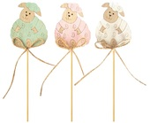 Wooden Sheep on Stick 6,5 cm + Stick