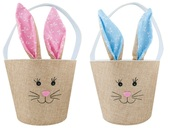 Fabric Easter Rabbit Basket 18x15,5 cm
