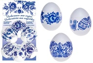 Egg Shrink Wraps, Blue design, 10 pcs