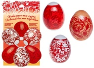 Egg Shrink Wraps, Red design, 10 pcs