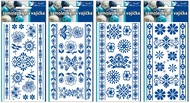 Egg Gel Stickers, White and Blue design, 19 x 9 cm