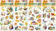 Egg Gel Stickers Vintage 19 x 9 cm