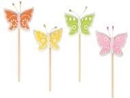 Decoration on Stick 4,5 cm + Stick, Butterfly, Felt