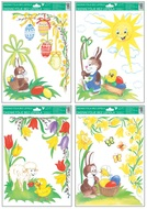 Self-Adhering Window Corner Decoration 37x26 cm, Traditional Easter