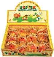 Easter Chicken 5 cm in Basket, 12 pcs in box