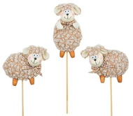 Brown Sheep on Stick 7 cm + Stick