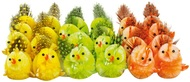 Easte Chickens Colorful 5 cm, 24 pcs
