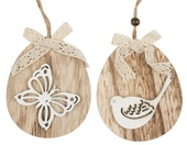 Hanging Wooden Oval 11 cm