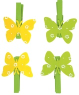 Butterfly on Peg 4 cm, 4 pcs Bag