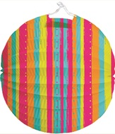 Paper Lantern 21 cm, round and striped