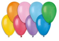 Balloon, 19 cm, 100 pcs in bag, color mix