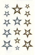 Metallic Stickers 10,5x6 cm - Stars