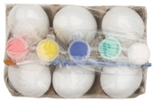Set of eggs with water paint 6cm 6 pcs
